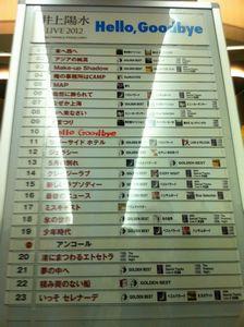 井上陽水 LIVE 2012 仙台セットリスト